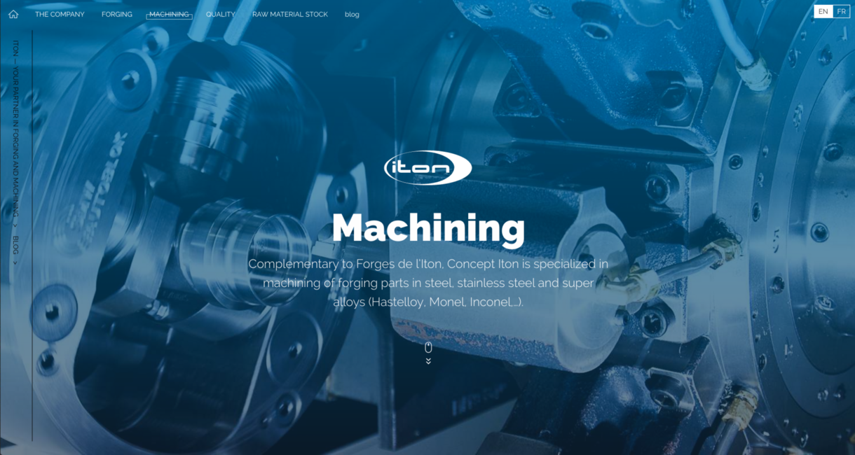ITON - Site_Capture_machining